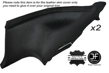 BLACK LEATHER 2X REAR LOWER DOOR CARDS SKIN COVERS FITS NISSAN 300ZX Z32 90-96