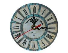 Wall Clock Antique Shabby Chic Home Living Room bed room Deco battery operated.