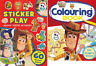 TOY STORY 4 - 2 BOOK SET STICKER COLOURING: 2 BOOKS 60+ STICKERS A4 PAPERBACKS