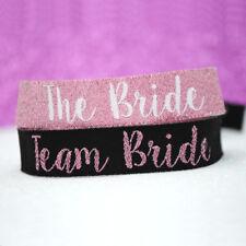 TEAM BRIDE 'ROSE GOLD' Hen Party Wristbands ~ Bracelets accessories