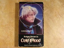 COLD BLOOD RUTGER HAUER VHS NOT 95 FRONT ROW/88 TAURUS 1ST EDITION 1987 WORLD