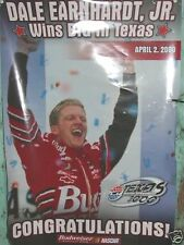 APRIL 2,2000,DALE EARNHARDT JR. FIRST CUP VICTORY TEXAS ! POSTER