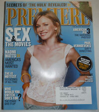 Premiere Magazine Naomi Watts & Paul Verhoeven July/August 2003 031015R