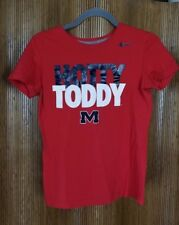 Nike Slim Fit Red Cotton Ole Miss Rebels T-Shirt Hotty Toddy Women's Size MED