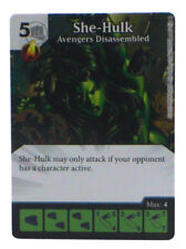 Dice Masters Avengers Dissassembled She-Hulk Limited Edition Prize Card OP Kit