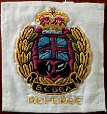 BCGBA British Crown Green Bowling Association Vintage Referee Badge