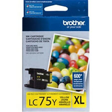 Brother LC 75Y XL Color Yellow Genuine Ink Cartridge For J825DW J835DW Printer