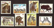 Ruanda- Serie Neu n° 1199-1206 Scenes Tiere: Zebras und Büffel, E66