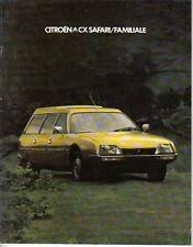 Citroen CX Safari & Familiale 1978-79 Original UK Market Sales Brochure
