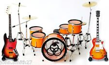Led Zeppelin Miniature Guitar and Drums Set of 3 Super Mini