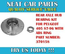 REAR AXLE WHEEL HUB BEARING KIT FOR PEUGEOT 405 87-96 MODELS 370158