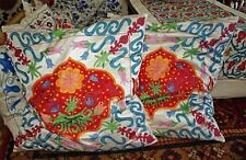 Lovely Uzbek Silk Embroidery Suzani Pillow Cushion Cover &Filling A3676