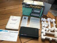 Atari Portfolio pocket PC DOS computer. Rare like HP 200LX vintage with box