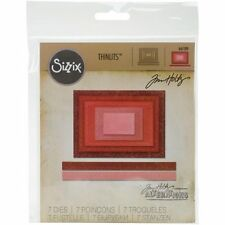 Sizzix Tim Holtz Thinlits Dies - Stitched Rectangles - Nested Frames