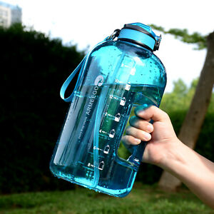 Outdoor Drinking Water Plastic Large Capacity Sports Fitness Water Bottle 3.78L