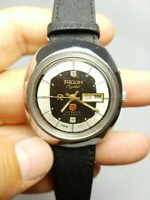 Vintage Diamond RICOH Crystal 21 Jewels Automatic India Made Mens Watch, Clean!