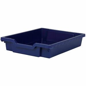 Gratnells Shallow Education Storage Tray 312 x 427 x 75mm Midnight Blue
