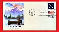 ZAYIX - 1981 United States - Fleetwood America the Beautiful - mountains FDC