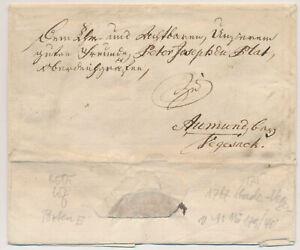 ÖSTERREICH Brief (Inhalt, schönes WASSERZEICHEN!) vom 1767. Interessantes Stück!