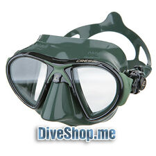 CRESSI NANO MASK GREEN Spearfishing freediving scuba diving low volume