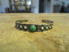 OLD Fred Harvey Era Navajo Sterling Silver Turquoise DOME ARROWS Cuff Bracelet
