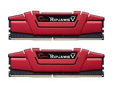 16GB G.Skill DDR4 PC4-24000 3000MHz Ripjaws V Red CL16 Dual kit 2x8GB 1.35V