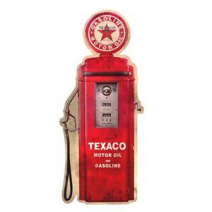 Metal Vintage Texaco Gas Station Gasoline Pump Tin Sign Garage/Shop Wall Decor