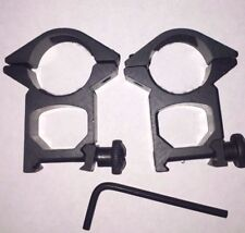2 Airsoft Hunting 25.4 mm Light Torch Holder High Scope Mount 20/22 weaver