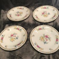 "4 of the 7.5"" Salad Plates by Liling Fine China- Yung Shen Floral Pattern"