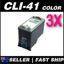 3x Color Ink for Canon CL41 CLI-41 iP2400 iP2600 FAX JX210P JX510P MP140 MP150