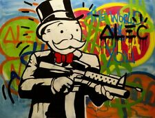 "New Design! Alec Monopoly Handcraft HUGE Oil Painting on Canvas,Portrait 24x30"""