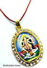 Hindu Goddess Kali Pendant Om Aum Mata Maa Ambe Meditation corded Yoga Necklace