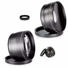 Wide Angle Macro Telephoto Lens kit F Nikon D3300 d5300 d3200 nikkor af f vr ed