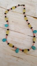 "20"" plastic necklace multi color jewelry fashion necklace"