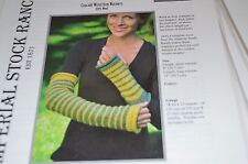 Imperial Stock Ranch Knitting Pattern Cascade Wrist Warmers/ Arm