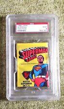 1965 SUPERMAN  CARDS WAX PACK PSA GRADE 09