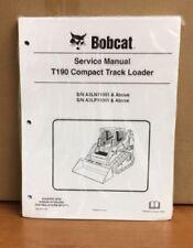 Bobcat T190 Track Loader Service Manual Shop Repair Book 5 Part 6987052