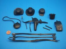 Marx (ARMY SOFT BLACK ACCESSORY LOT) Johnny West Best Of The West Custer Maddox