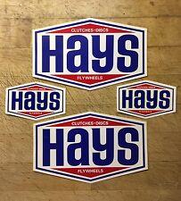 NOS 1969 Hays Racing Decals Stickers Original Logo Vintage Collectible 4-pack