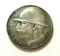 20 LIRE 1928 - ITALY-VICTOR EMMANUEL III - SOUVENIR COIN MADE OF SILVERED METAL