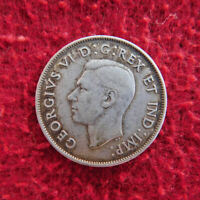 Canada King George VI 50-Cents 1942 ~ Silver Coin ~ Very Fine Condition