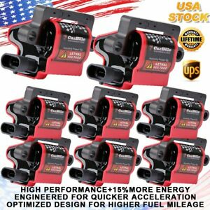 High Performance Square Ignition Coil Set of 8 For Chevrolet GM Silverado UF271