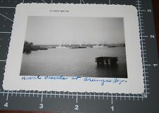 ORANGE Texas TX Navel Ship in HARBOR Docks Military Army Vintage Snapshot PHOTO