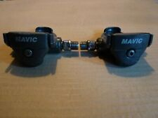 "VINTAGE 1980s MAVIC FIRST GENERATION LOOK PEDALS GREY 9/16"" RACING BIKE USED #1"