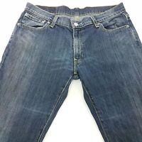 Levi's 529 Womens Jeans W32 L29 Dark Blue Regular Fit Flared Mid Rise