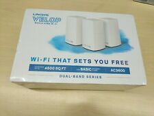 NEW Sealed Linksys Velop Intelligent Mesh WiFi System, 3-Pack White (AC3600)
