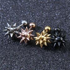 Stud Earrings Stainless Steel Rock Earrings Women Men Punk Thorn Spike Ball