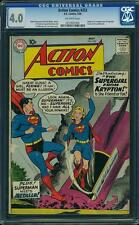 Action Comics #252 CGC 4.0 DC 1959 1st Supergirl! Superman! JLA! G3 254 cm clean