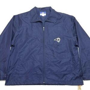 Reebok Windbreaker Jacket - LA RAMS NFL - Embroidered - LARGE