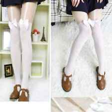 Lady Women Sexy Cute High Stockings Pantyhose Tattoo Bow Suspender Sheer Tights
